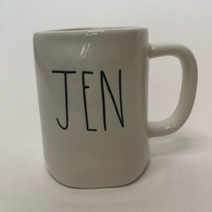 Rae Dunn JEN Mug LL Large Letter Name Mug